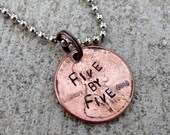Five by Five - Faith Penny from Buffy (choice of keychain, necklace or cell charm)