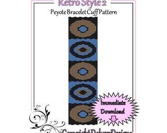Bead Pattern Peyote(Bracelet Cuff)-Retro Style 2