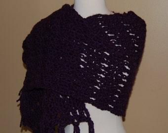 Plumb Crochet Shawl