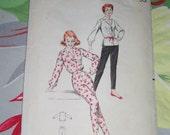 "Vintage 1950s Butterick Pattern 8606, Misses Sportswear, Size 14, Bust 34"", Waist 26"", Hip 36"","