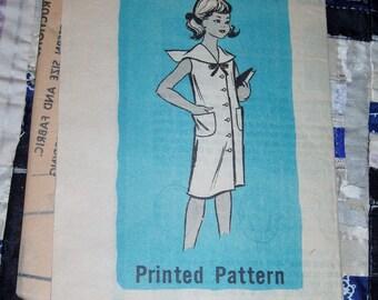 "Vintage 1950s Mail Order Pattern 9153, Girl's Dress, Size 6, Breast 24"", Waist 22"", Uncut, Factory Folds"
