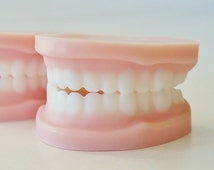 SOAP DENTURES - Over the Hill party favors, false teeth, gag gift, novelty soap, tooth, dental, dentist, orthodontist