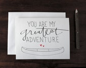 Valentine love note card - blank - You Are My Greatest Adventure