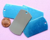 """10 Stamping Dog Tags Mirror Finish Aluminum 2"""" Disc - MT75"""