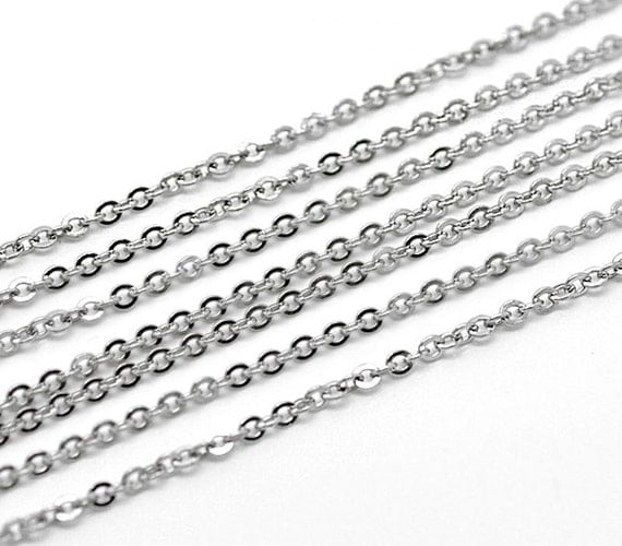 Bulk 32ft necklace chain stainless steel 3mm x bulk for Bulk jewelry chain canada