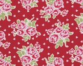 Valentine Rose, Falling Roses and Hearts in Red, Tanya Whelan, Valentines, One Yard