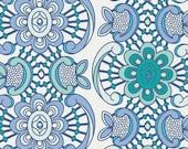 SALE! Fabric-Art Gallery Fabrics-Aquatic Lace Sapphire-Angela Walters-Drift-One Yard