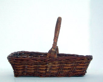 SALE Vintage Woven Basket - Rustic Home Decor