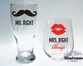 Mr Right Glasses - Set of 2