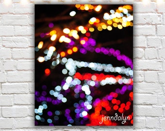 colorful modern wall art - abstract lights photography - bohek print