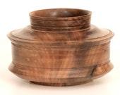 Wood Vase, Turned English Walnut Vase, Turned Wood Pot