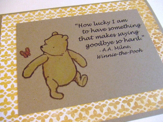 How Lucky I Am - Winnie the Pooh Quote - Classic Pooh Note Card