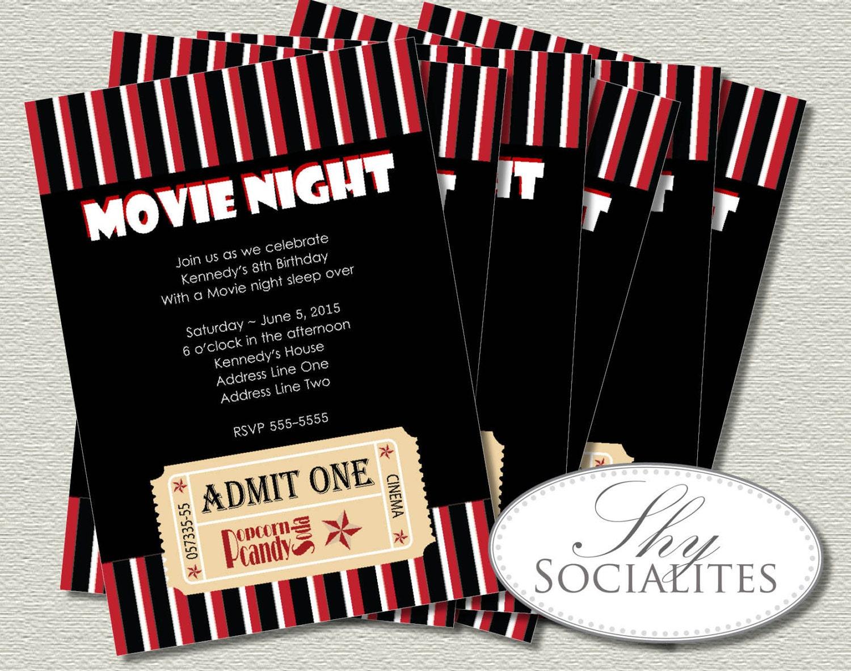 Movie Ticket Invitation Ticket Invitation Movie Night – Movie Ticket Birthday Invitation