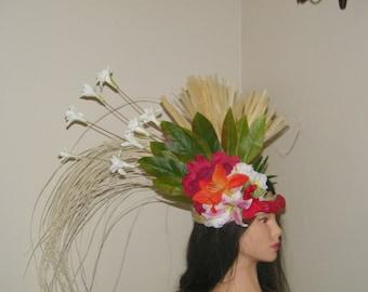 SILK FLOWER Tahitian Headdress