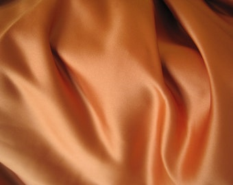 "Orange Upholstery Fabric - Thick Satin Fabric with Defect  - Burnt Orange - Rust 47"" x 87"""