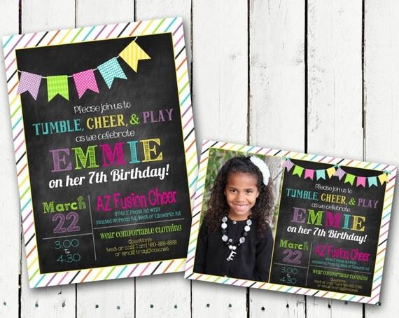 Chalkboard Birthday Invitation Custom Printable