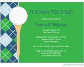 PRINTABLE - Birthday Sports Golf Party, Tee Time Invitation, Miniature Golf, Putt Putt Golf, Driving Range Party
