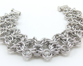 Silver Olivia Chainmaille Bracelet