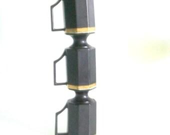 Ernest Sohn Imperial Pedestal Mugs - Black And Gold