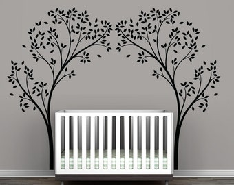 Black Tree Canopy Portal Wall Decal