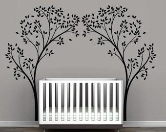 Black Tree Canopy Portal Wall Decal