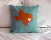 Texas Lovers Custom State Throw Pillow