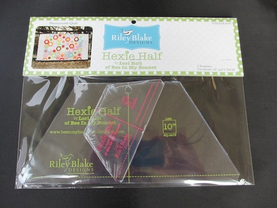 """Back In Stock - Going Fast - Hexie Half Rulers With 10"""" and 5"""" Sizes with Retail Packaging- Half Hexie"""
