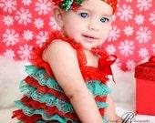 Christmas Petti  lace romper,Lace Petti Romper,  Christmas Petti Romper, Lace Romper, Romper, Lace Bubble Romper,Baby girl lace romper.