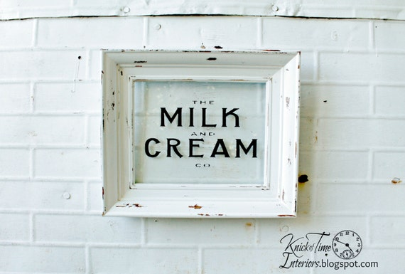 MILK & CREAM Co. Sign - Hand Made Typography Sign