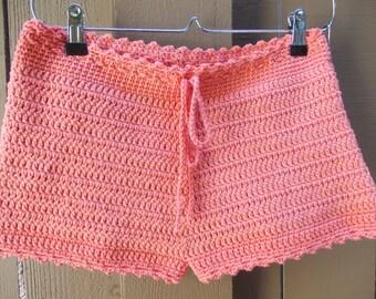 Crochet Shorts - High Cut Shorts - Beach Shorts - Custom Order Shorts - Festival Clothes - Rave Wear - Vegan Shorts