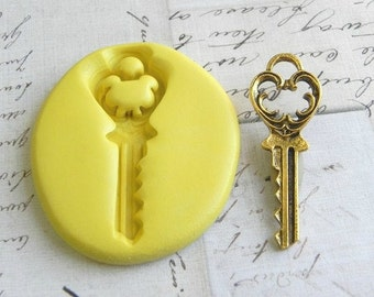 FANCY HOUSE KEY - Flexible Silicone Mold - Push Mold, Polymer Clay Mold, Resin Mold, Clay Mold, Key mold, Pmc Mold