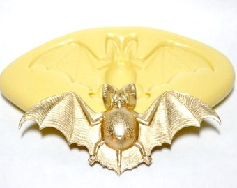 BAT (large) - Flexible Silicone Mold - Push Mold, Polymer Clay Mold, Pmc Mold, Resin Mold