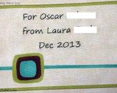 Quilt Label - Cufflink, Custom Made & Hand Embroidered