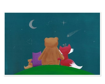 11x17 Forest Friends Poster - Enchanted Forest Nursery