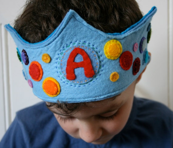 Custom order for Stefanie: Birthday Crown for A