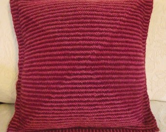 50% OFF! Cushion Cover, PIllow Sham, Hand Knitted Pink Cushion Case, Throw Pillow, Shadow Knitted Cushion Cover, Hand knitted Pillow Sham