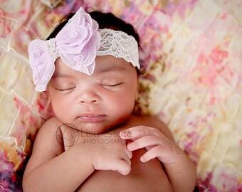 Baby headband, newborn headband, adult headband, child headband and photography prop Sweetness lace headband