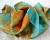 "Coral Reef Play Silk 35"" x 35"", Waldorf PlaySilk Dress-up LARGE size Silkie"