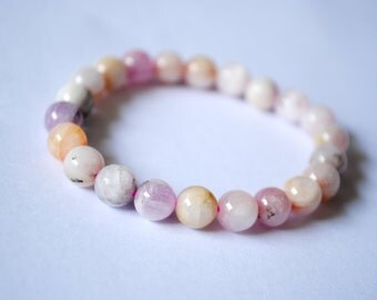 A Nice 8 mm. Piece of Kunzite Gemstone Bracelet
