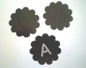 Stencil Die Cut SCALLOPED Circle DUCT TAPE Die Cut Scrapbook Supply