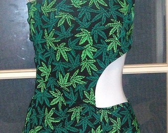 420 pot leaf corset back monokiniavailable in other colors too