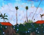 Ocean Beach Palms, San Diego, California Landscape Painting