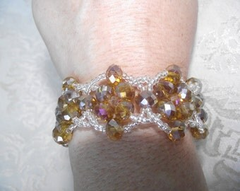 Amber Colored Crystal Bracelet