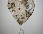 """Wall collage with clock """"Angel heart"""""""