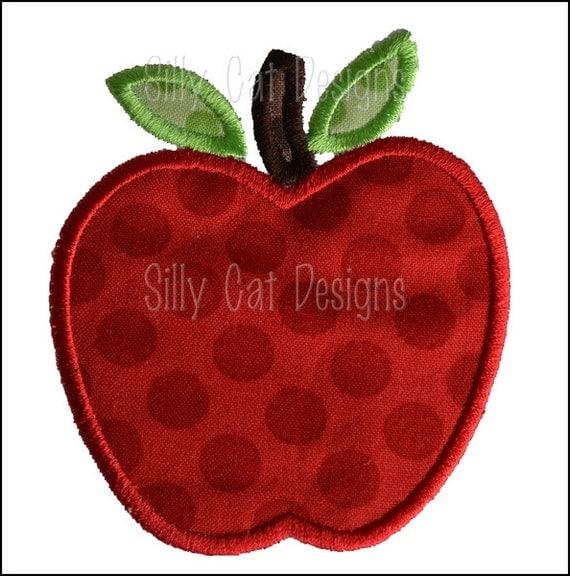 Apple Applique Machine Embroidery Design