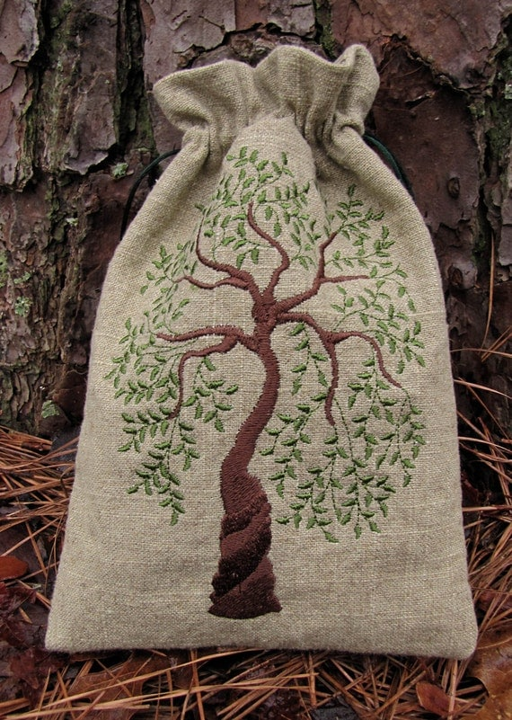 Tarot Bags Tarot Cards Cloths More: Sacred Tree Tarot Bag ON HOLD For Linda B. By Medievalmuse