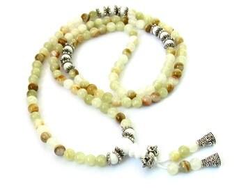 6mm Tibetan Style Afghanstan Stone Beaded Meditation Yoga 108 Prayer Beads Mala  ZZ165
