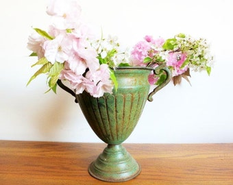 Antique Green Decorative Vase