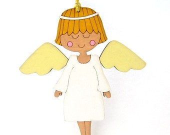Personalized ornament Guardian angel  newborn gift for nursery and children room decoration