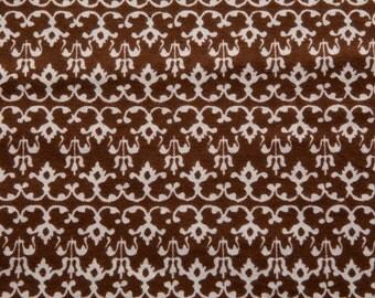 Filigree - Brown - Flannel - 1 yard
